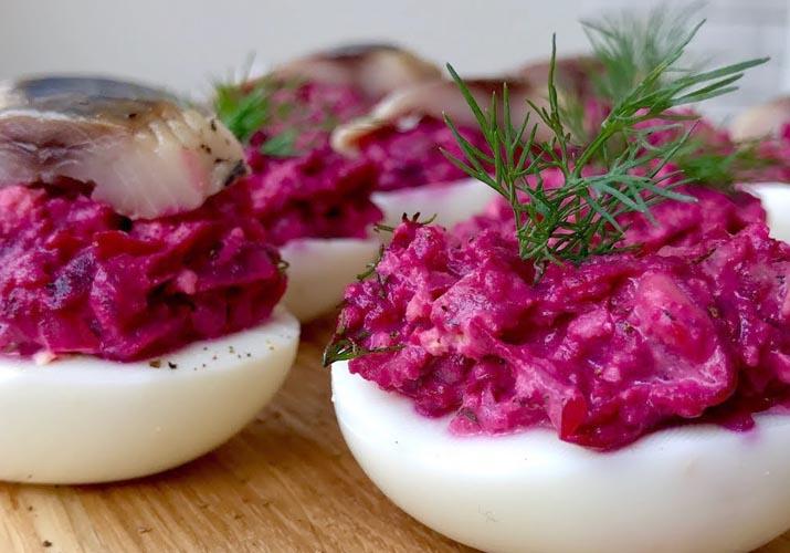 сельдь под шубой в яйцах