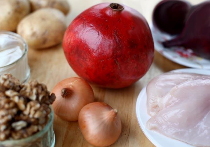 ингредиенты для салат гранатовый браслет