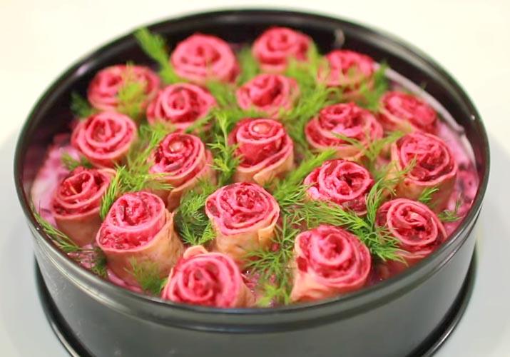 селедка под шубой розы